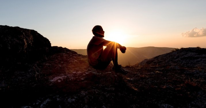 image of man looking out across valley for a post about resources for lent