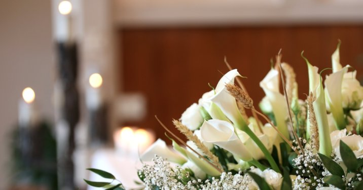 funeral flowers for a post on how to write a funeral sermon