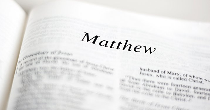 Image of the book of Matthew for a post on the theology of matthew