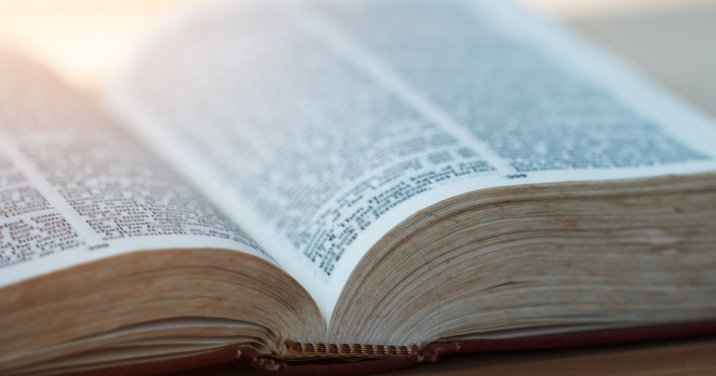 image of Bible for post about bible translations