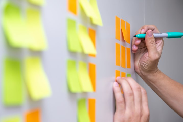 image of sticky notes for a post about how do you outline a sermon